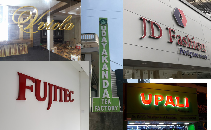 Stainless Steel Letter Name Boards, Light Boards, Signage