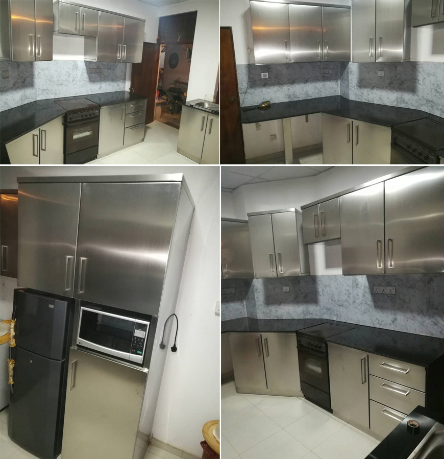 stainless steel pantry cupboard full unit in sri lanka