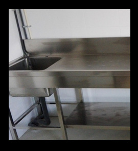 Stainless Steel Work Tables Food Prep Tables Stainless Steel - Stainless steel work table with sink
