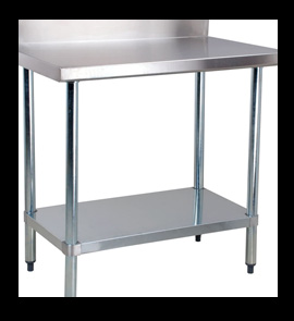 TABLE WITH BACKSPLASH. Stainless Steel ...